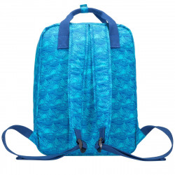 Zip Top Squared Front Pocketed Backpack