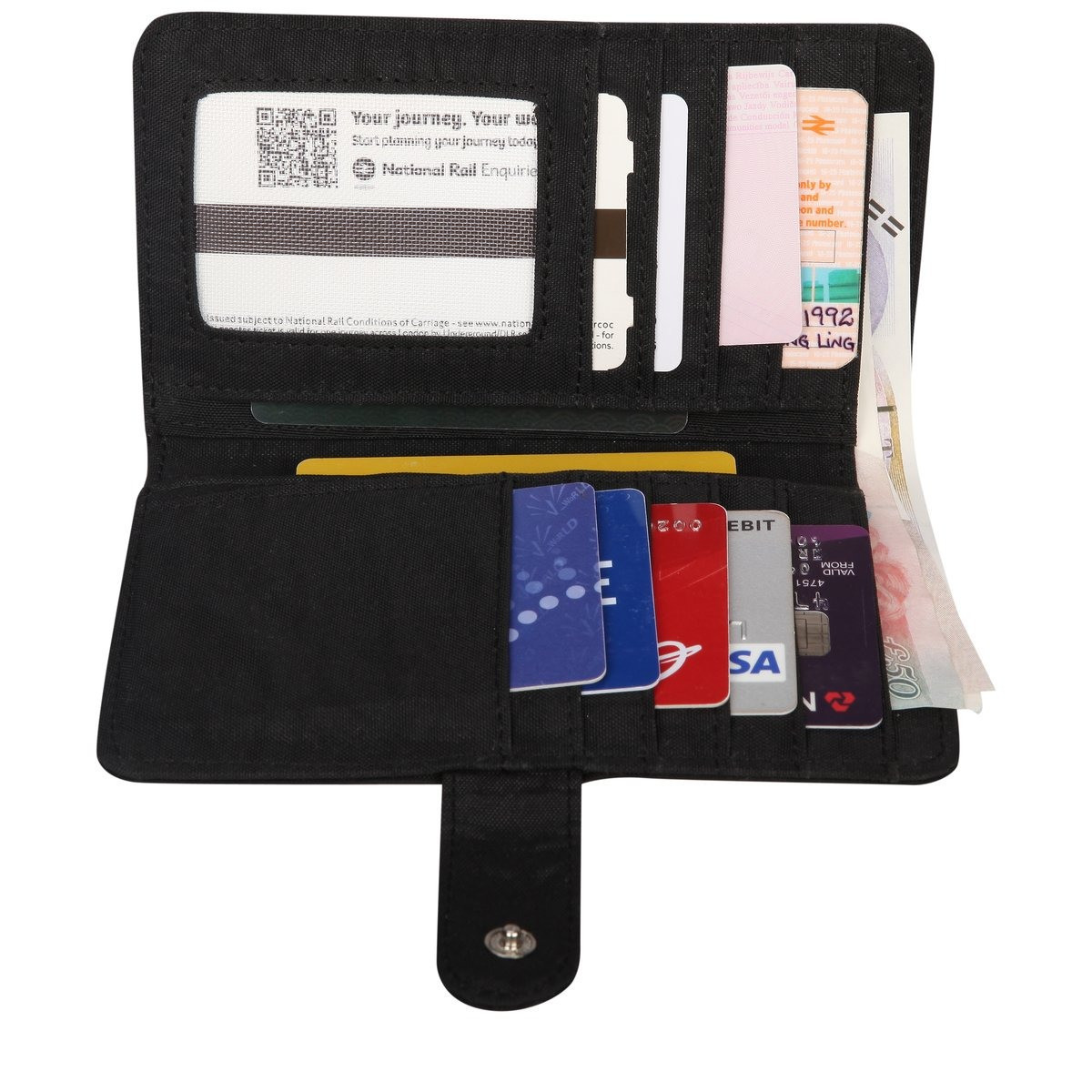 Artsac Card / Notecase With Clasp Fastening